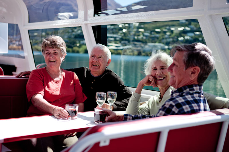 Enjoy a relaxing drink on board