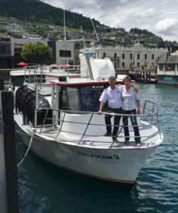 Wayne & Betty Perkins - owners of Queenstown Lake Cruise company, Million Dollar Cruise